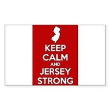 Keep Calm Jersey Strong Decal