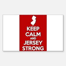 Keep Calm Jersey Strong Decal
