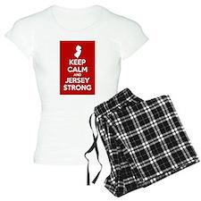 Keep Calm Jersey Strong Pajamas