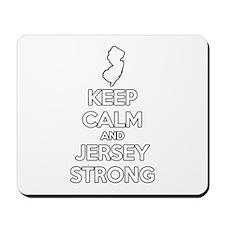 Keep Calm Jersey Strong Mousepad