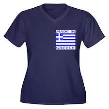 Made in Greece Upper & Back Women's Plus Size V-Ne