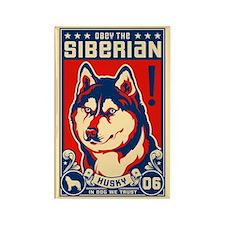 Obey the SIBERIAN HUSKY! Propaganda Magnet