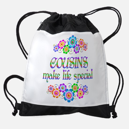 Cousins Make Life Special Drawstring Bag