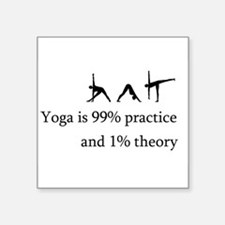 """yoga practice.png Square Sticker 3"""" x 3"""""""
