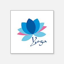 "yoga lotus.png Square Sticker 3"" x 3"""
