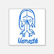 "namaste girl.png Square Sticker 3"" x 3"""