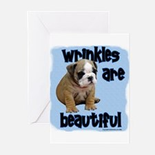 """Wrinkles are Beautiful"" Greeting Cards (Package o"