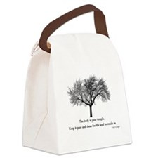 yoga tree.png Canvas Lunch Bag