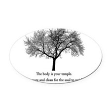 yoga tree.png Oval Car Magnet