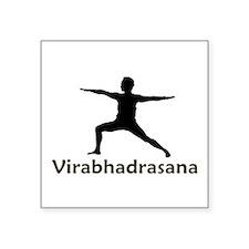 "virabhadrasana.png Square Sticker 3"" x 3"""