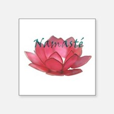 "namasté copia.png Square Sticker 3"" x 3"""