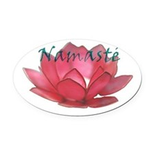 namasté copia.png Oval Car Magnet