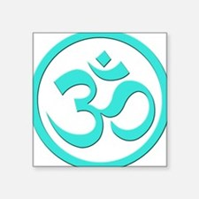 "OM_YOGA.png Square Sticker 3"" x 3"""