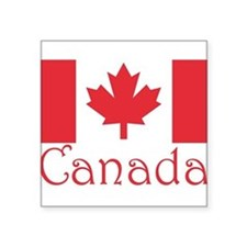 "Canada flag.png Square Sticker 3"" x 3"""