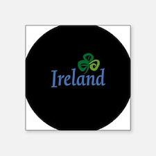 "ireland circle.png Square Sticker 3"" x 3"""