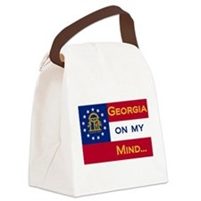 georgia on my ming.png Canvas Lunch Bag