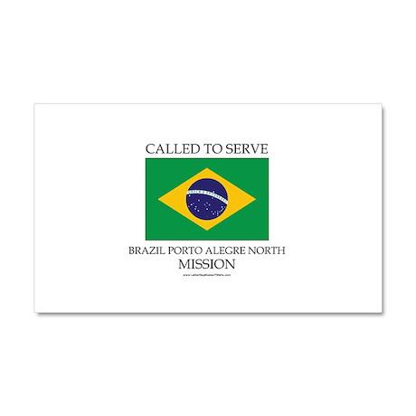 Brazil Porto Alegre North Mission - Brazil Flag -