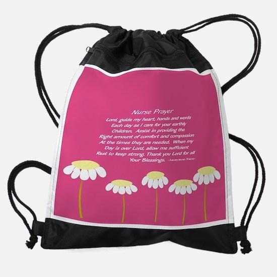 Nurse Prayer Blanket Pillow Pink Drawstring Bag
