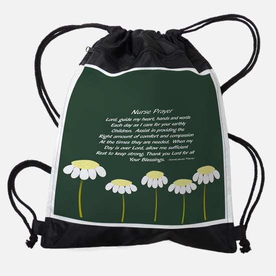 nurse prayer blanket 33 Drawstring Bag