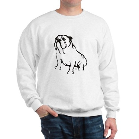 Bulldog Logo Black Sweatshirt
