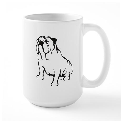 Bulldog Logo Black Large Mug