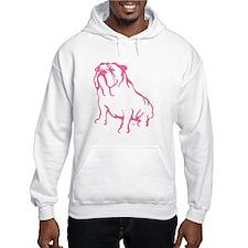 Bulldog Logo Pink Hoodie