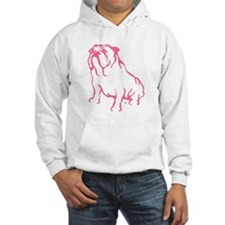 Bulldog Logo Pink Jumper Hoodie