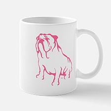 Bulldog Logo Pink Mug