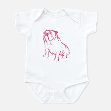 Bulldog Logo Pink Infant Bodysuit