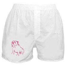 Bulldog Logo Pink Boxer Shorts