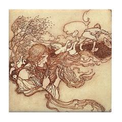 Rackham's Goose Girl Tile Coaster
