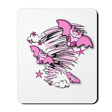 BATTY ABOUT PINK Mousepad