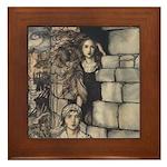 Rackham's Maid Maleen Framed Tile