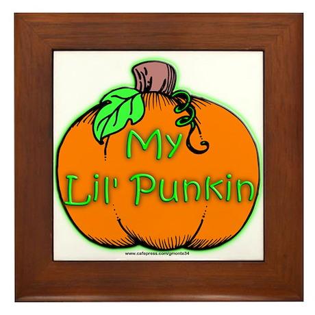 Lil' Punkin Framed Tile