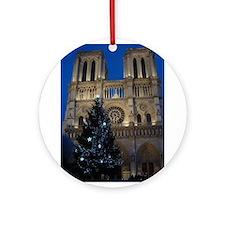 Notre Dame de Paris a NOEL Ornament (Round)