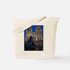 Notre Dame de Paris a NOEL Tote Bag