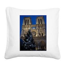 Notre Dame de Paris a NOEL Square Canvas Pillow