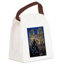 Notre Dame de Paris a NOEL Canvas Lunch Bag