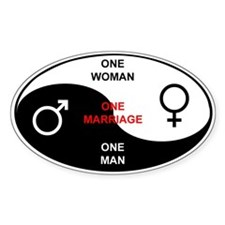 """Definition of Marriage"" Oval Decal"