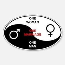 """""""Definition of Marriage"""" Oval Decal"""