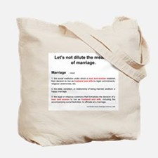 """""""Definition of Marriage"""" Tote Bag"""