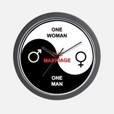 """""""Definition of Marriage"""" Wall Clock"""