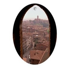 OVERVIEW OF SIENA, ITALY Ornament (Oval)