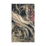 Rackham's Snow White & Rose Red Sticker (Rectangul