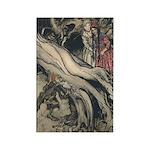 Rackham's Snow White & Rose Red Rectangle Magnet