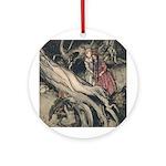 Rackham's Snow White & Rose Red Ornament (Round)