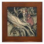 Rackham's Snow White & Rose Red Framed Tile