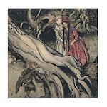 Rackham's Snow White & Rose Red Tile Coaster