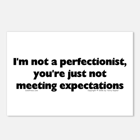 I'm Not A Perfectionist Postcards (Package of 8)