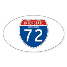 Interstate 72 - MO Oval Decal